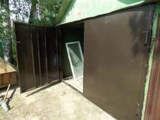 Ворота с установкой в металлический гараж