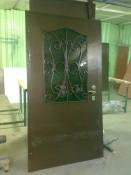 Купить дверь со стеклом и ковкой г. Звенигород