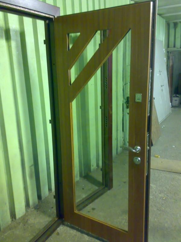 дверь стальная со стеклом солнечногорск