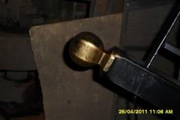 Злемент ковки литой шар на столб для перил покрытый патиной