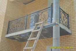 Кованые перила на балкон в г. Дмитрове