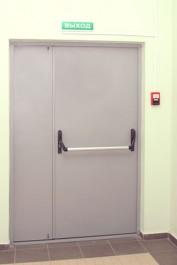 Двустворчатая дверь металлическая