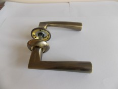 Ручка дверная Армадилло Columba бронза+золото