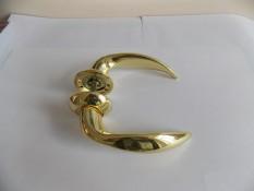 Ручка дверная Армадилло TAURUS - золото+мат.золото