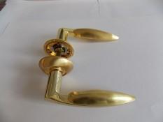 Ручка дверная Армадилло Virgo - золото+мат.золото