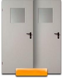 Дверь с квадратным стеклопакетом