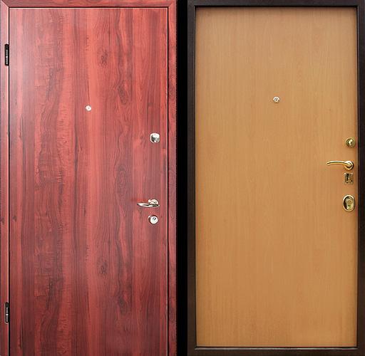 стальные двери отделка ламинат с двух сторон