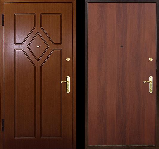 двери стальные с отделкой мдф