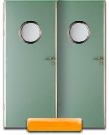 Дверь с круглым стеклопакетом