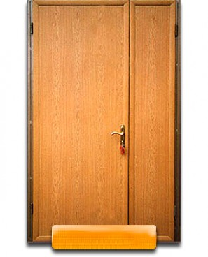 Дверь тамбурная с двух сторон ламинат