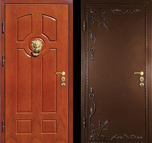 металл снаружи и внутри в стальной двери в жуковском