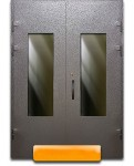 Тамбурная дверь порошок с двух сторон со стеклом