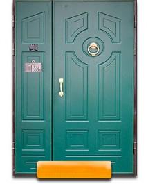 Дверь в тамбур с двух сторон панель МДФ